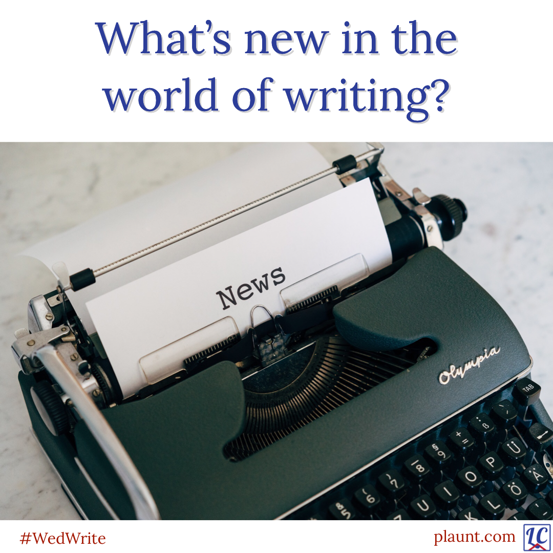 """An old manual typewriter with the word """"News"""" typed on the paper. Caption: What's new in the world of writing?"""