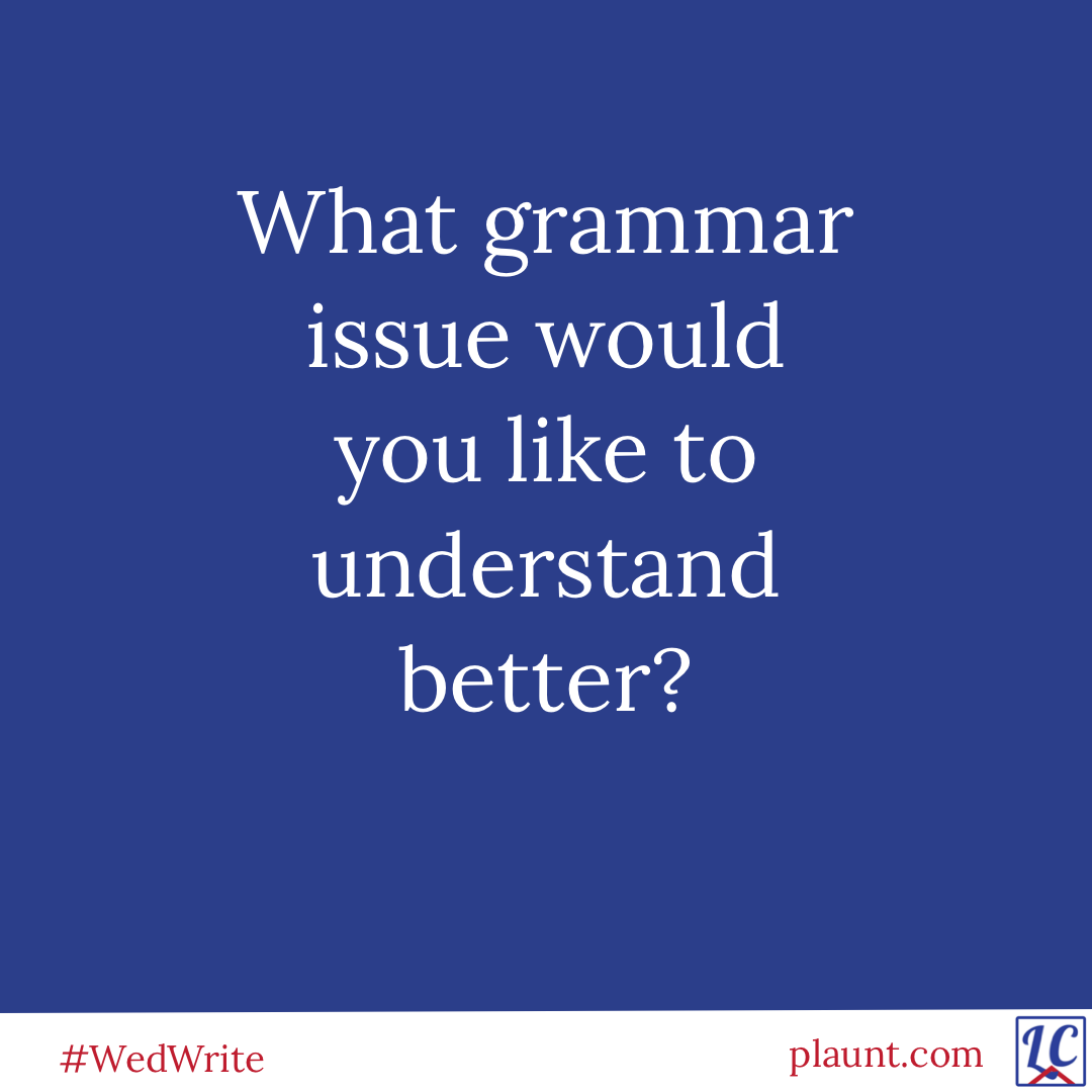 What grammar issue would you like to understand better?