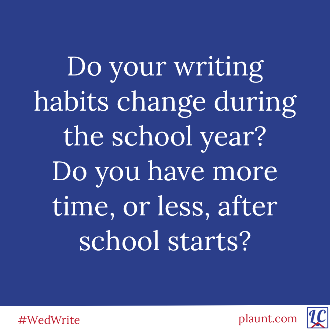 Do your writing habits change during the school year? Do you have more time, or less, after school starts?