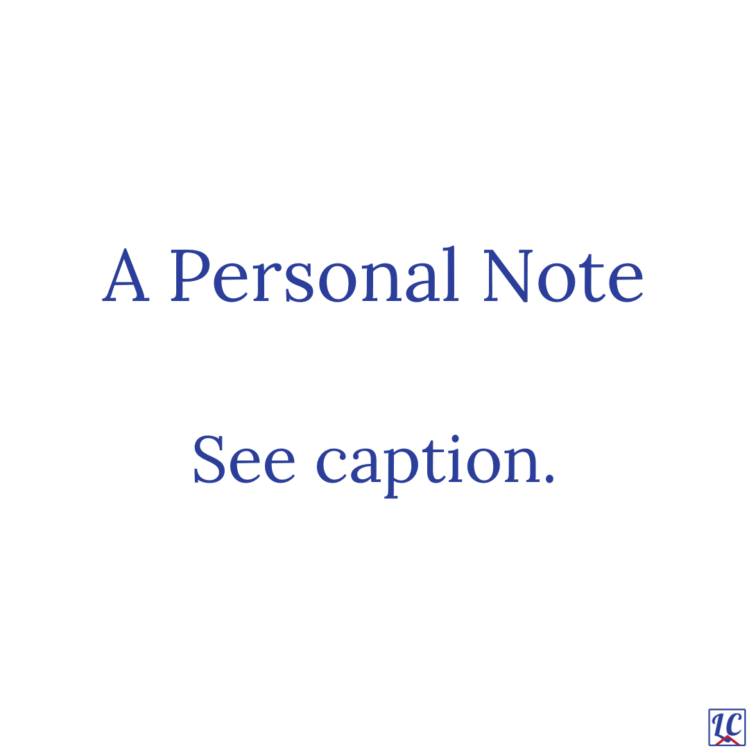 A Personal Note See caption.